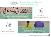 The Cambridge Migration Society presents the first Lent seminar of their Graduate Migration Research Series