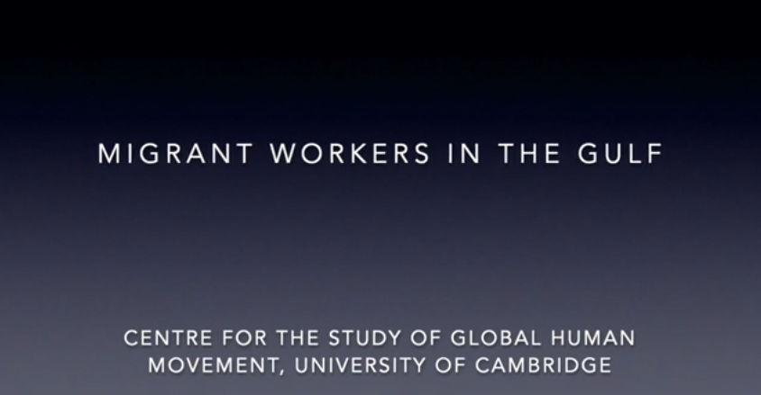 Global Conversations - Migrant Workers in the Gulf Region