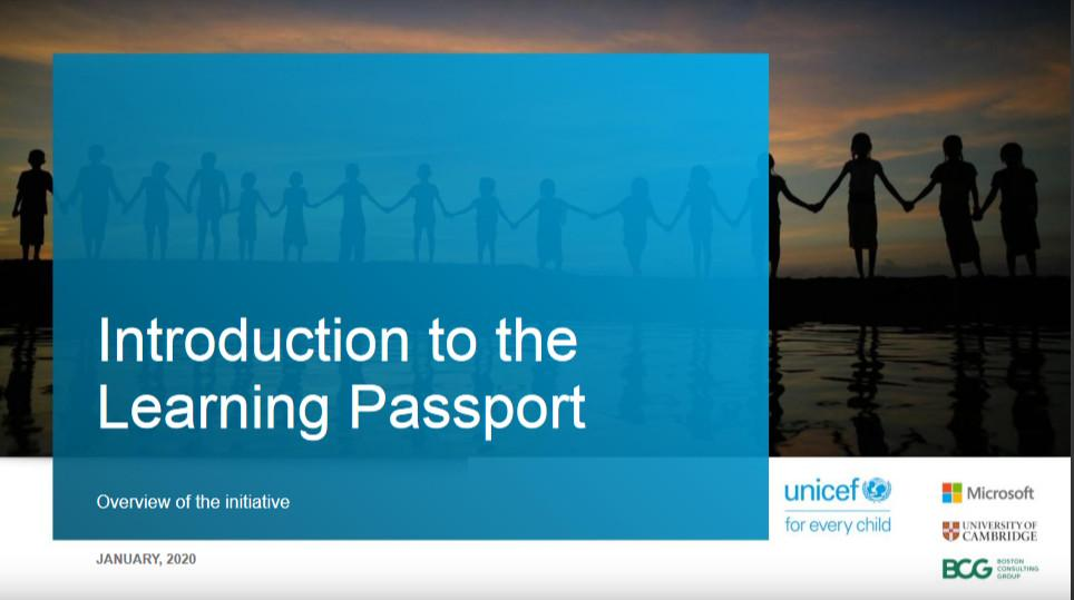 The Learning Passport Collaboration between Cambridge and UNICEF