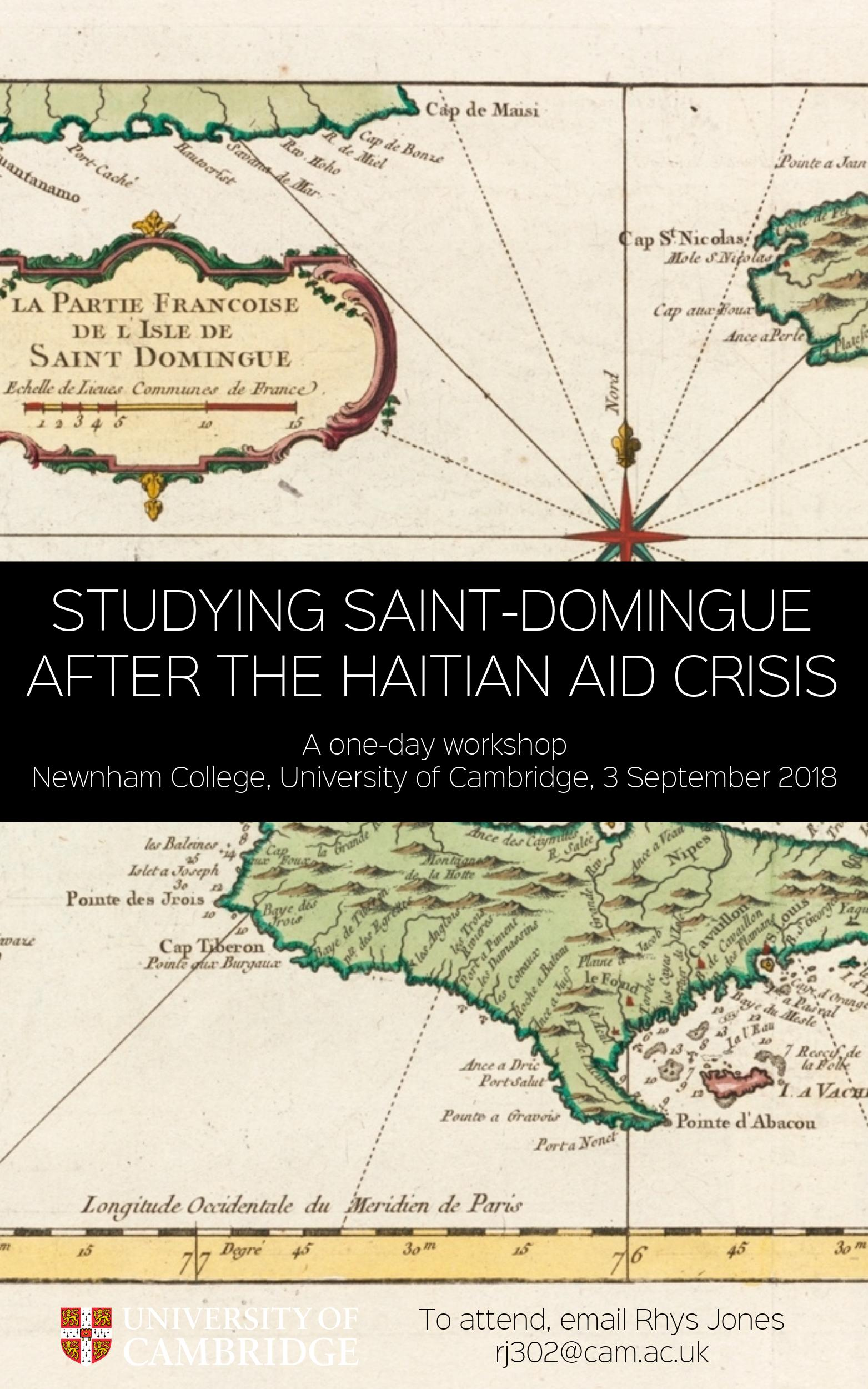 Studying Saint-Domingue after the Haitian Aid Crisis